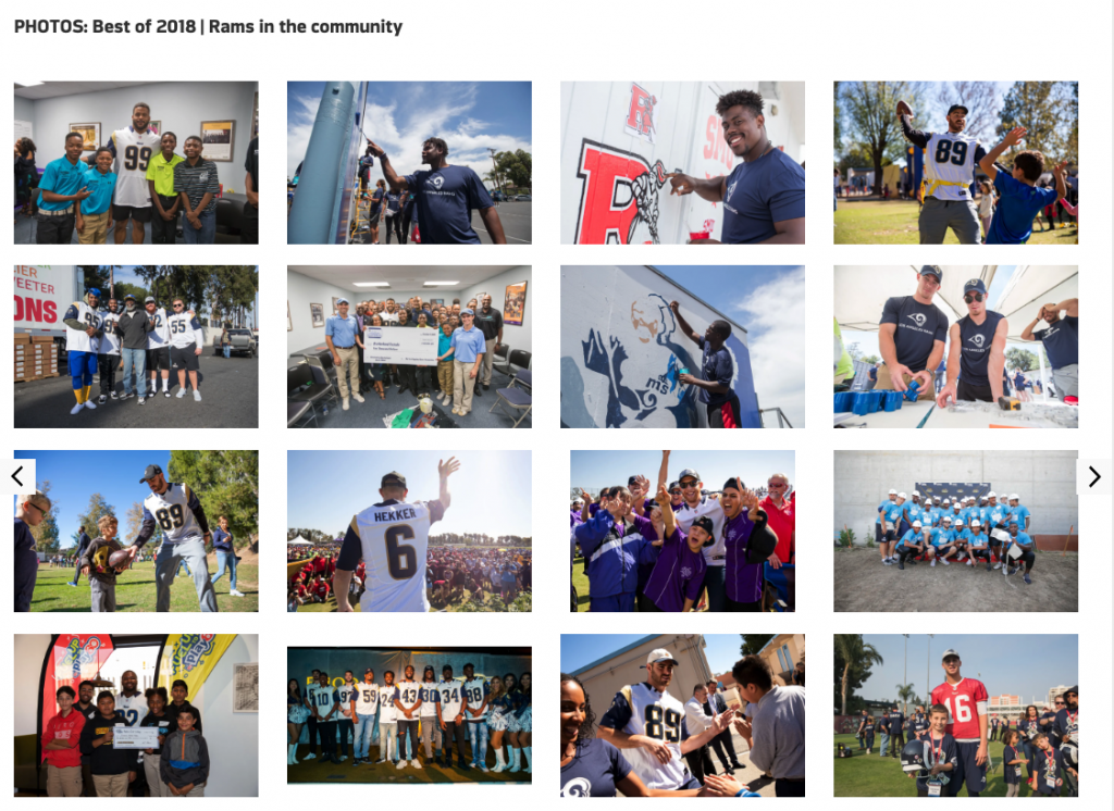 Rams Players in the Community