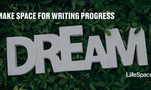 """The word """"dream"""" appears on a robust bed of greenery, hopeful and soft"""